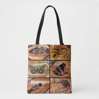 Aboriginal Collage Tote Bag