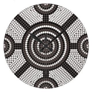 Aboriginal dot painting clocks