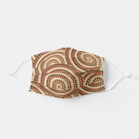 Aboriginal dot painting cloth face mask