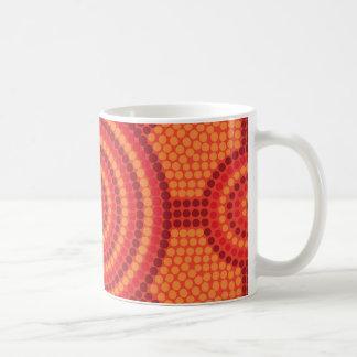 Aboriginal dot painting coffee mug