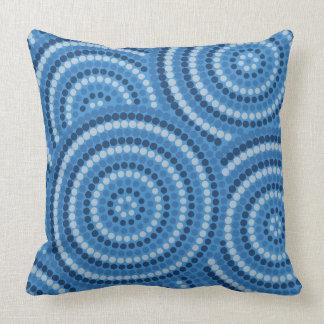 Aboriginal dot painting cushion