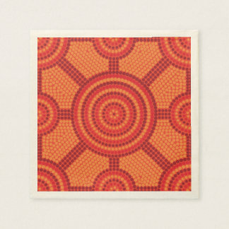 Aboriginal dot painting disposable napkin