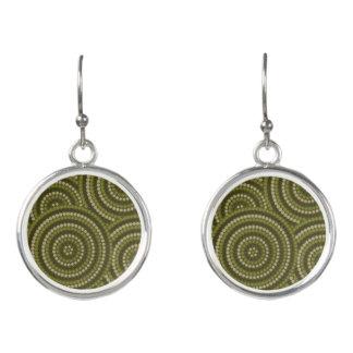 Aboriginal dot painting earrings
