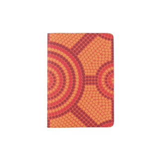 Aboriginal dot painting passport holder