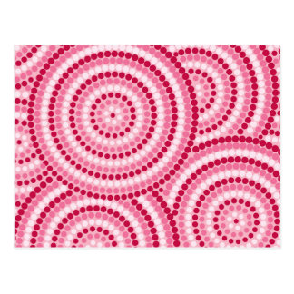 Aboriginal dot painting postcard