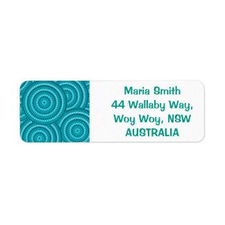 Aboriginal dot painting return address label