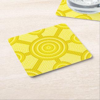Aboriginal dot painting square paper coaster