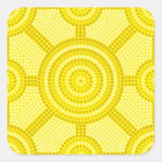 Aboriginal dot painting square sticker