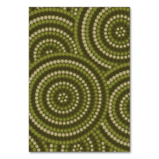 Aboriginal dot painting table cards