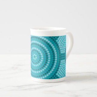 Aboriginal dot painting tea cup