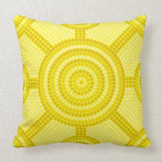 Aboriginal dot painting throw pillow