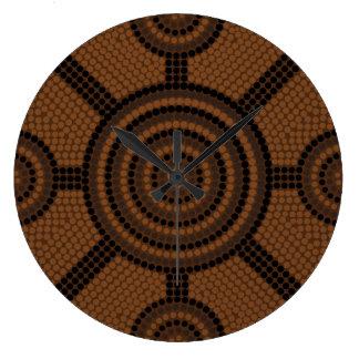 Aboriginal dot painting wall clocks