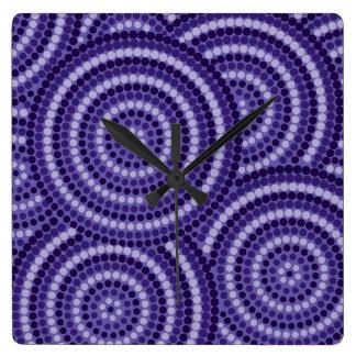 Aboriginal dot painting wallclock