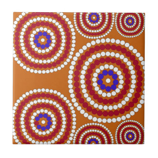 Aboriginal edition small square tile