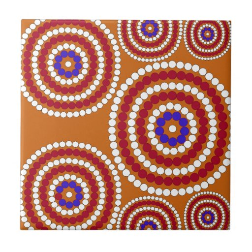 Aboriginal edition ceramic tile