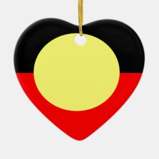 aboriginal-Flag Ceramic Ornament