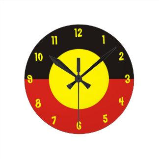 aboriginal flag clock