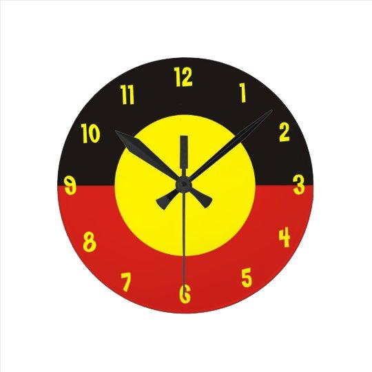 Aboriginal Flag Clock Zazzle Com Au