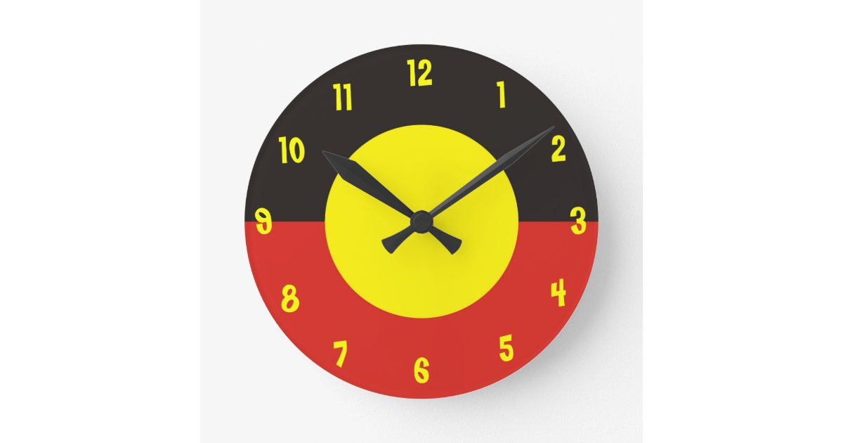 Aboriginal Flag Clock Zazzle Com Au