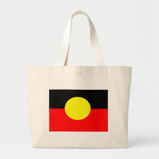 aboriginal-Flag Large Tote Bag