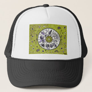 Aboriginal Horoscope Yellow Trucker Hat