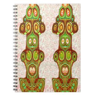 Aboriginal Indian India Ethnic Craft Cartoon Notebooks