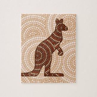 Aboriginal kangaroo dot painting jigsaw puzzle