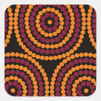 Aboriginal Life cycle Square Sticker
