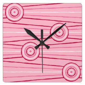 Aboriginal line and circle painting clock