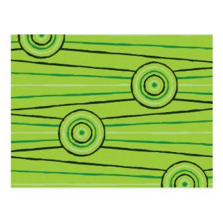 Aboriginal line and circle painting postcard