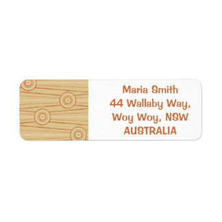 Aboriginal line and circle painting return address label