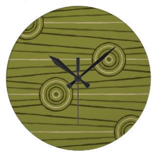 Aboriginal line and circle painting wall clock