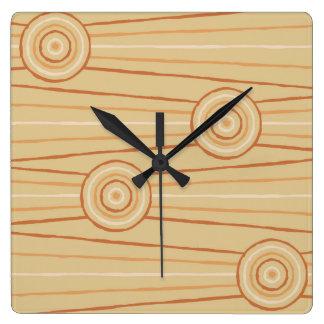 Aboriginal line and circle painting wall clocks