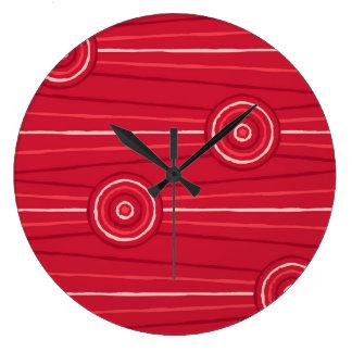 Aboriginal line and circle painting wallclock