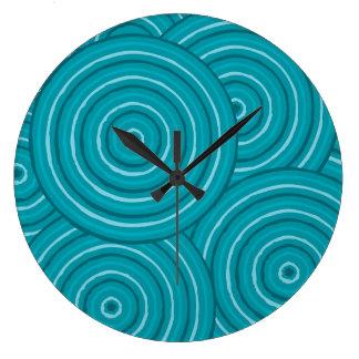 Aboriginal line painting clock