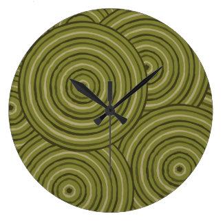 Aboriginal line painting clocks