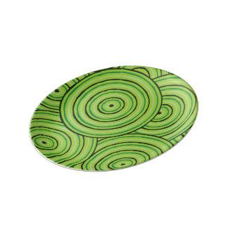 Aboriginal line painting porcelain plate
