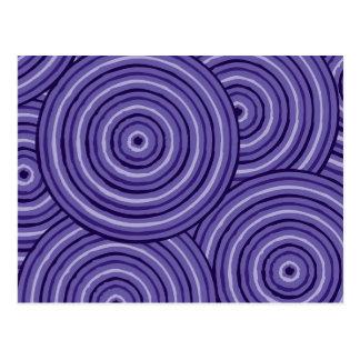 Aboriginal line painting postcard