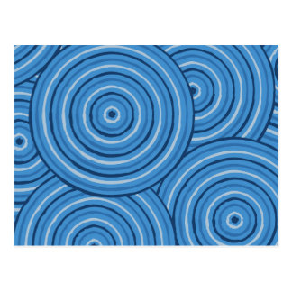 Aboriginal line painting postcard