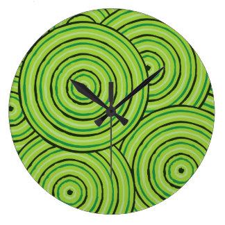 Aboriginal line painting wall clocks