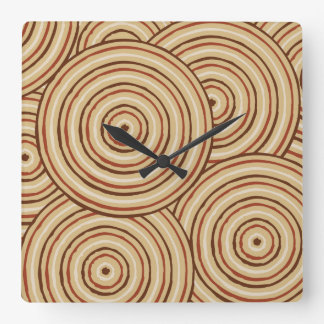 Aboriginal line painting wallclock