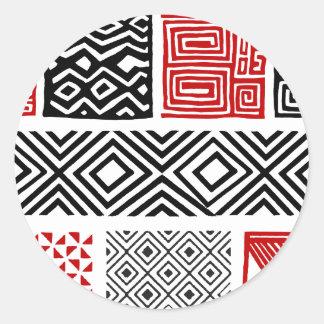 Aboriginal print nº 02 classic round sticker