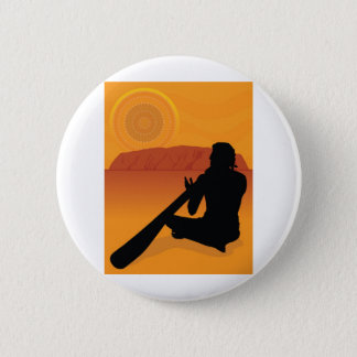 Aboriginal Silhouette 6 Cm Round Badge