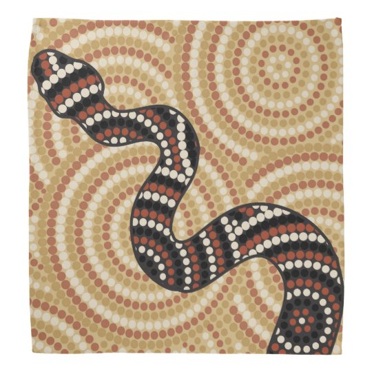 Aboriginal Snake Dot Painting Bandana Zazzle Com Au