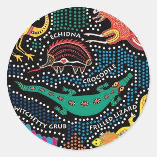 Aboriginal style round sticker