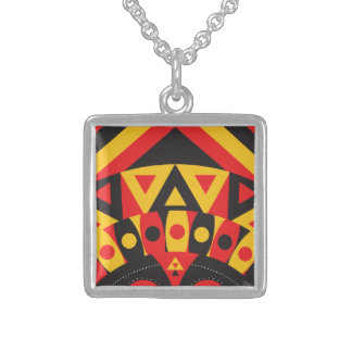 aboriginal tribal sterling silver necklace