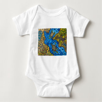 Aboriginal Turtles Painting Baby Bodysuit