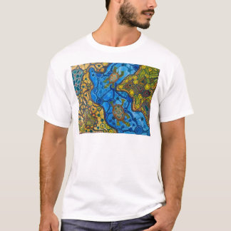 Aboriginal Turtles Painting T-Shirt
