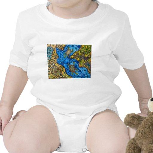 Aboriginal Turtles Painting T-shirt