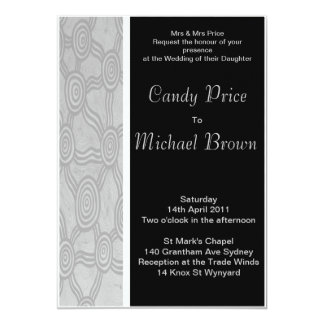 Aboriginal Wedding Invitation Winter Dreaming